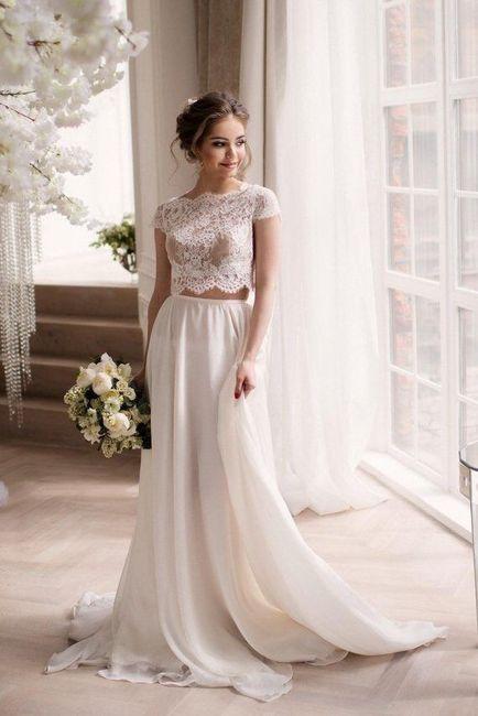 Vestido de novia de 2 piezas 👰🏻 15