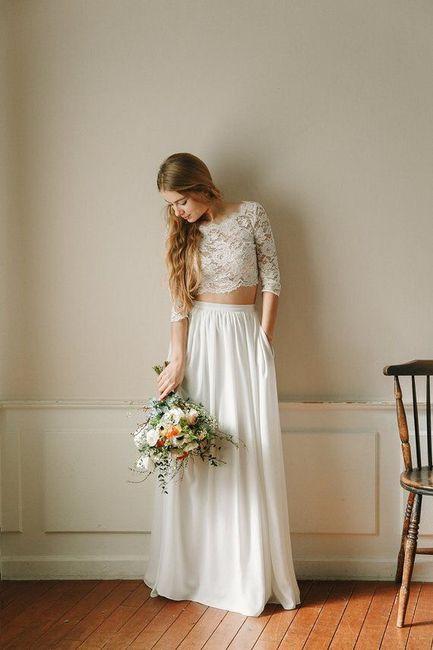 Vestido de novia de 2 piezas 👰🏻 17