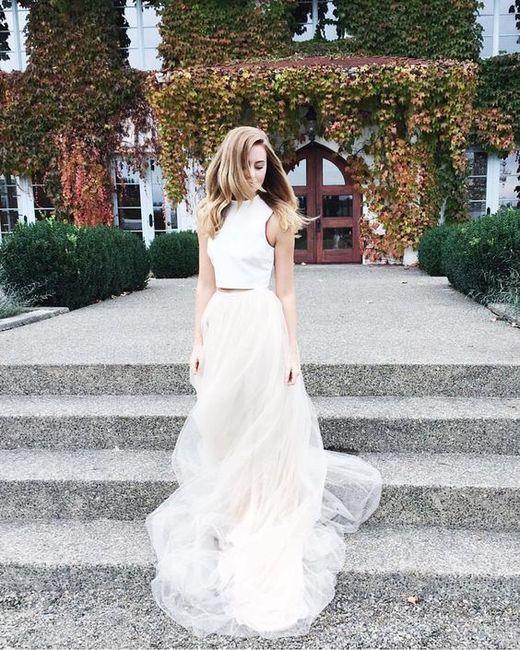 Vestido de novia de 2 piezas 👰🏻 25