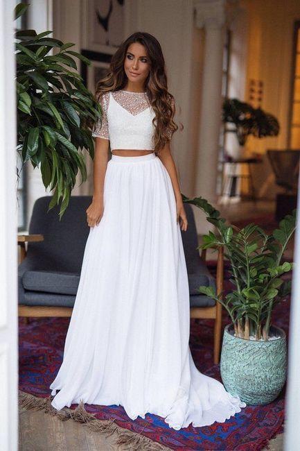 Vestido de novia de 2 piezas 👰🏻 32