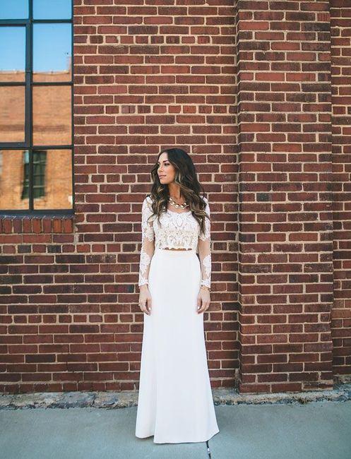 Vestido de novia de 2 piezas 👰🏻 33