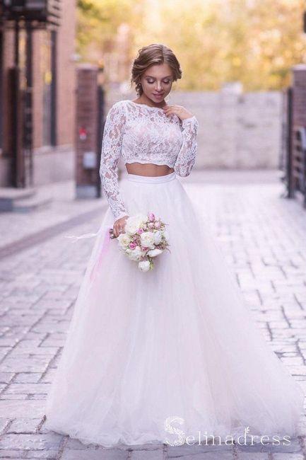 Vestido de novia de 2 piezas 👰🏻 35