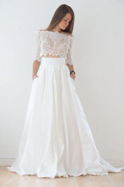 Vestido de novia de 2 piezas 👰🏻 37