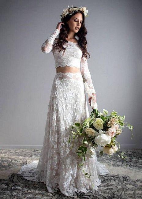 Vestido de novia de 2 piezas 👰🏻 40