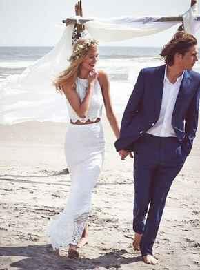 Ayuda: ideas vestidos de novia y damas para playa. - 8