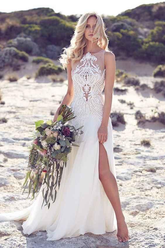 Ayuda: ideas vestidos de novia y damas para playa. - 9