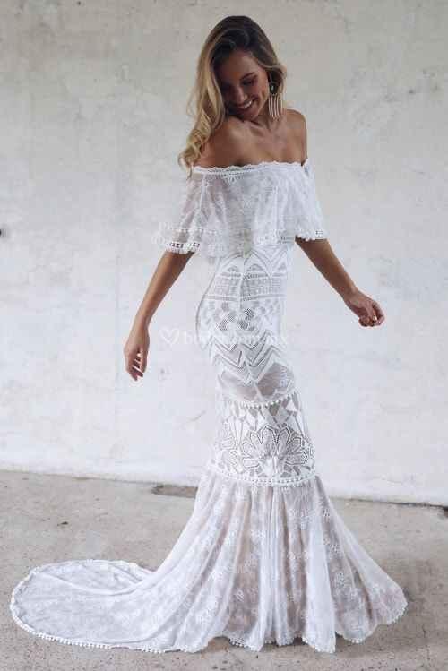 Ayuda: ideas vestidos de novia y damas para playa. - 11
