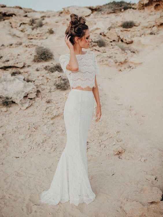 Ayuda: ideas vestidos de novia y damas para playa. - 16