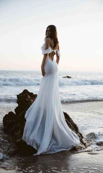 Ayuda: ideas vestidos de novia y damas para playa. - 19