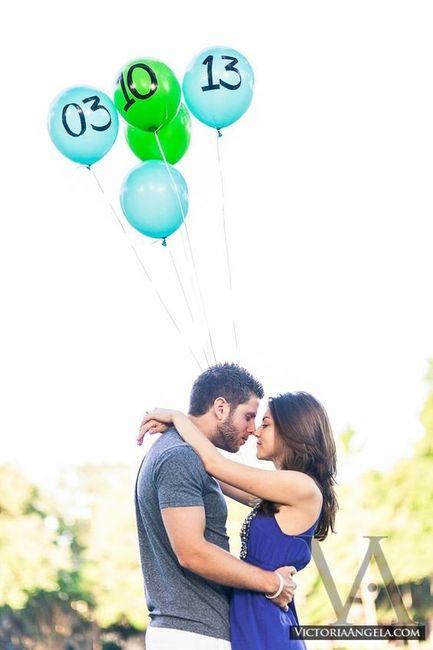 7 ideas originales para tu Save the date con globos 3