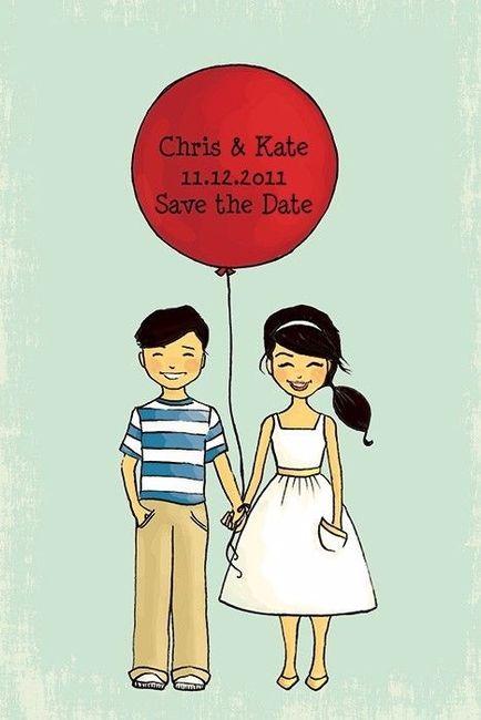7 ideas originales para tu Save the date con globos 6