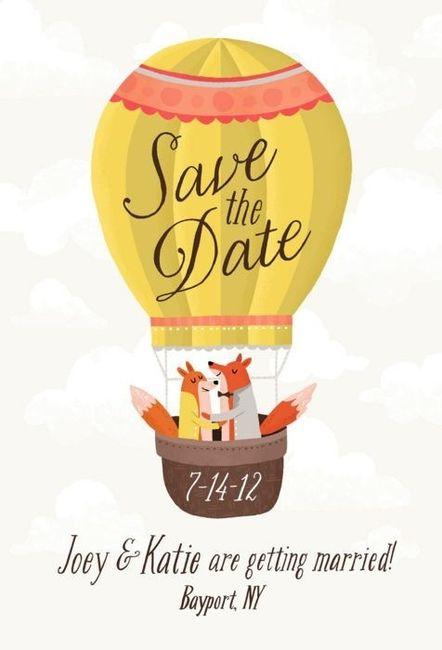 7 ideas originales para tu Save the date con globos 7