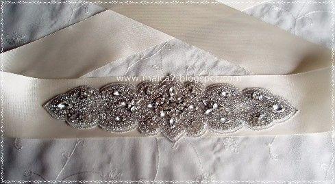 Cinto vestido novia