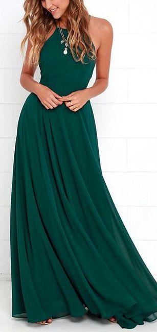 Vestidos de noche color verde bandera