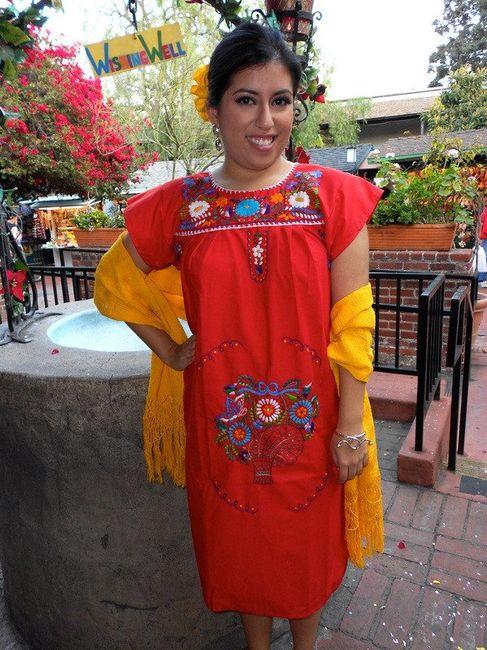 Vestidos para dama Boda Mexicana 25