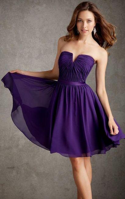 Miedoso Vestidos De Color Lila Para Bodas Ideas Ornamento ...