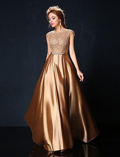 Vestidos de noche dorados para gorditas