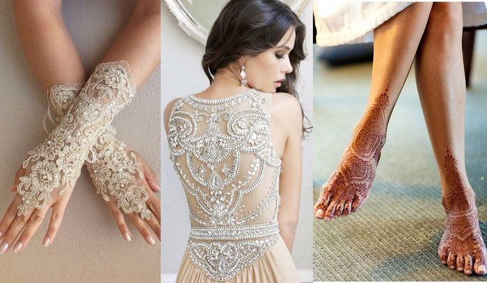 Vestidos en hindu blanco
