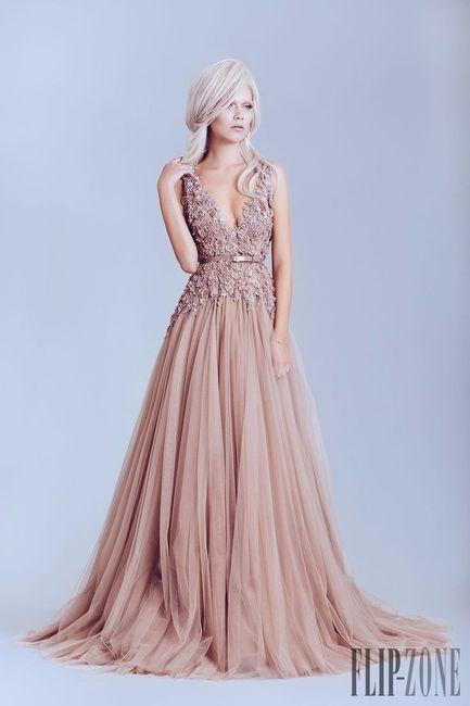 Vestidos de novia con rosa palo