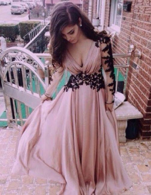 Vestido rosa palo para boda de noche