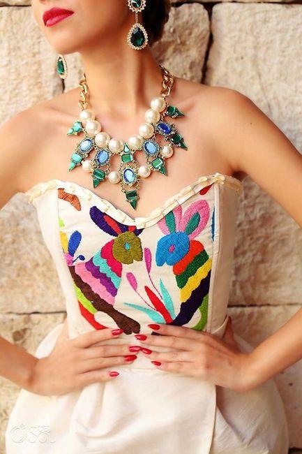 Vestidos temática mexicana 16