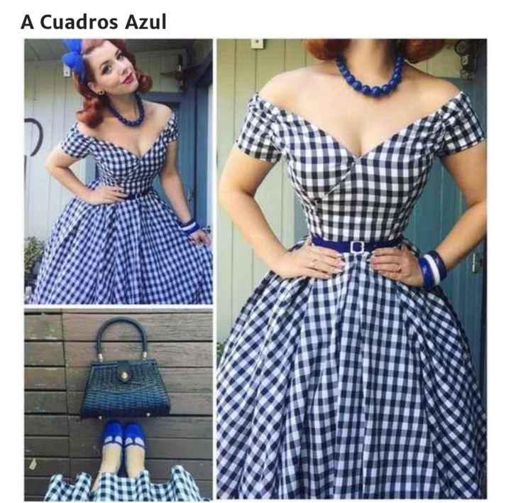 Vestidos para Damas años 50´s - 2