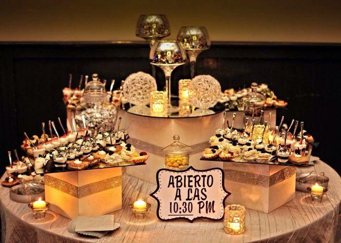 Mesa de postres foro organizar una boda for Mesa de postres para boda