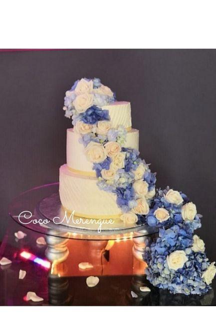 Pasteles de boda con flores 23