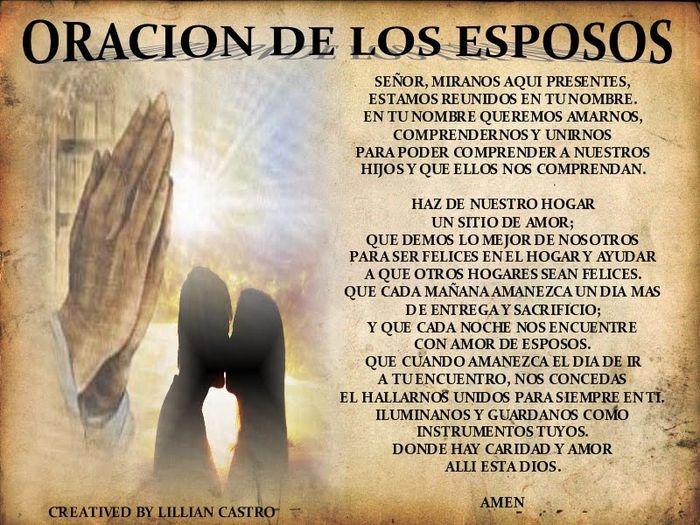 Mensagem Matrimonio Catolico : Oracion bodaa esposos enamorados foro ceremonia nupcial