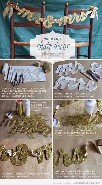 Letras para las sillas de los novios foro for Sillas para novios en la iglesia