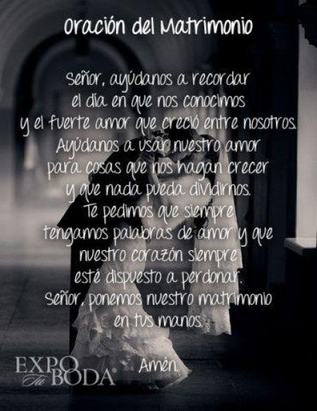 Salmos Del Matrimonio Catolico : Oracion del matrimonio foro recién casad s bodas mx