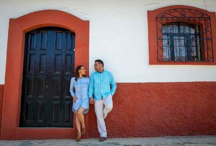 Nuestra sesion de fotos, fue en un pueblo magico donde nos ibamos a casar, a mi me encanto fue con m