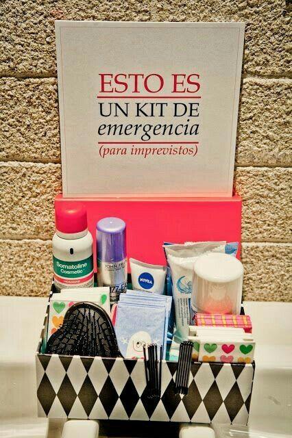 f0ed6b468 Kit de emergencia para el baño - Foro Manualidades para bodas ...