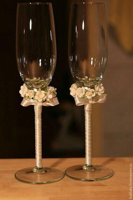 Copas diy foro manualidades para bodas - Copas decoradas con velas ...