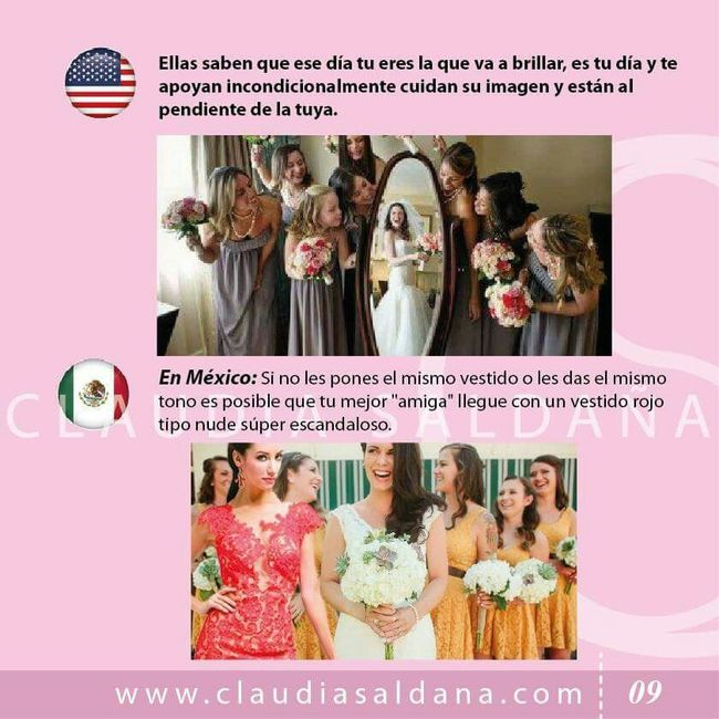 Damas de honor usa vs damas de honor mx - Foro Antes de la boda ...