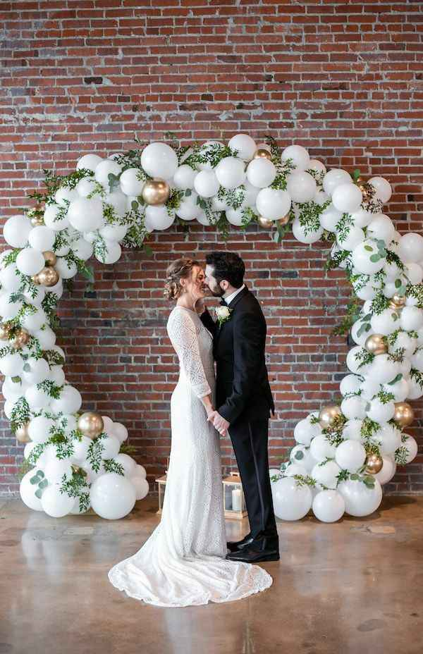 "Ideas para decoración de boda ""aros de flores"" en cdmx - 3"