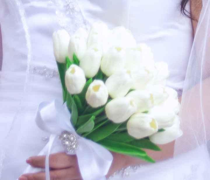 8 ramos BLANCOS para una novia - 1