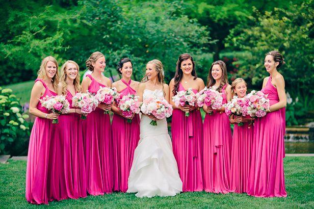 Damas De Honor Color Rosa Fiusha🌸💞 Foro Moda Nupcial