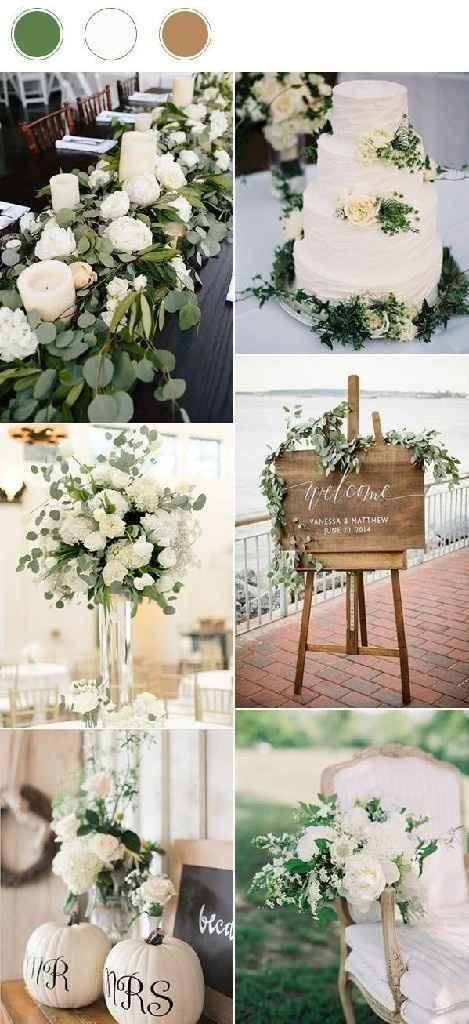 Consejos para el color de mi boda aparte del blanco por arreglos que incluye el salón - 1