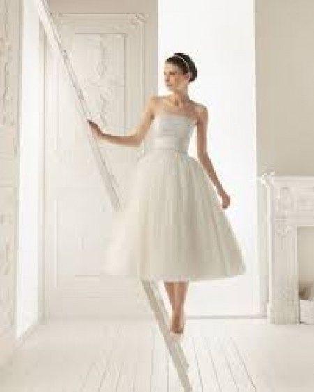 Vestido media pierna boda