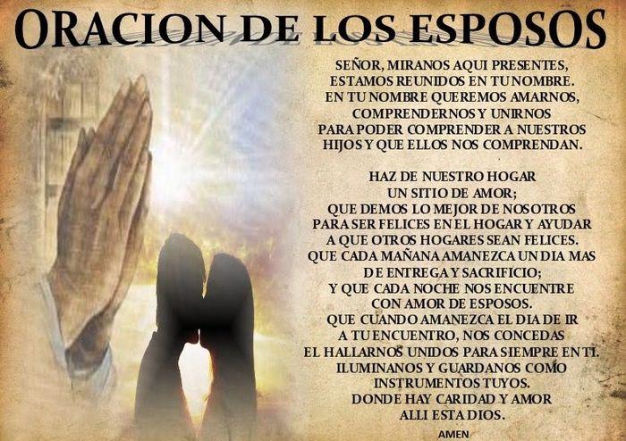 Consejería Matrimonial Catolico Gratis : Oración de los esposos foro recién casad s bodas mx