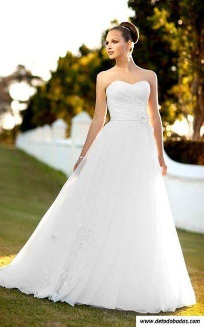 vestido de novia estilo 70