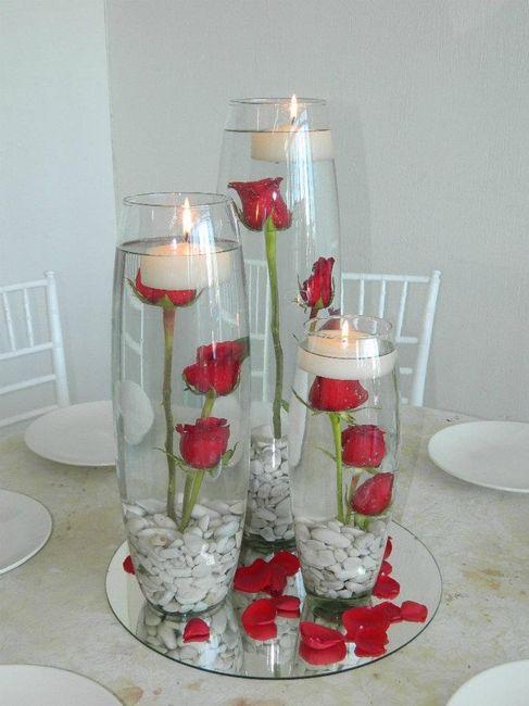 Centro de mesa con copas y velas car interior design - Centros con velas ...