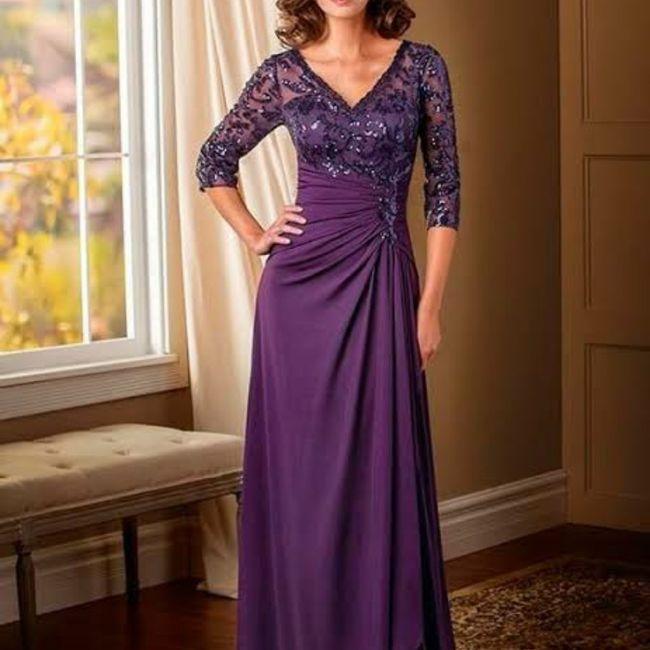 Vestidos color púrpura para mamá de la novia 💜💜 - 2