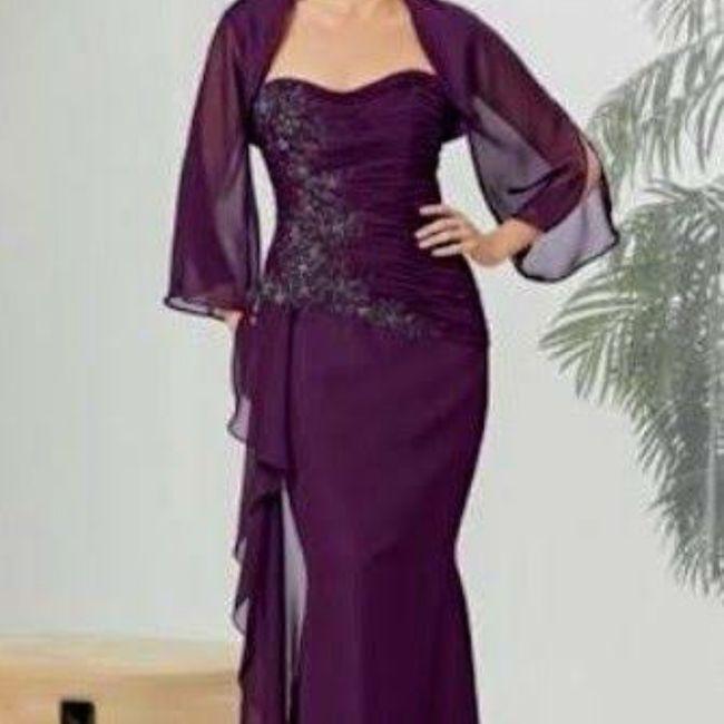 Vestidos color púrpura para mamá de la novia 💜💜 - 3