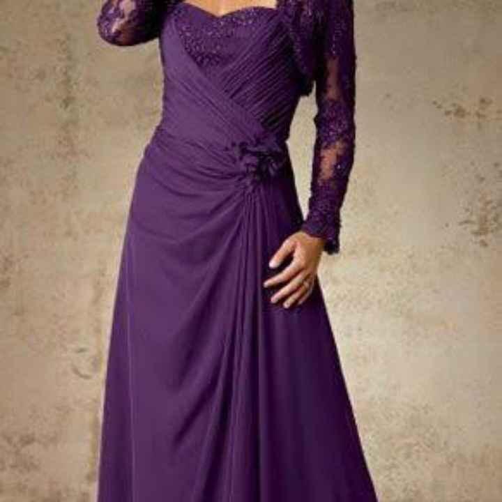 Vestidos color púrpura para mamá de la novia 💜💜 - 1