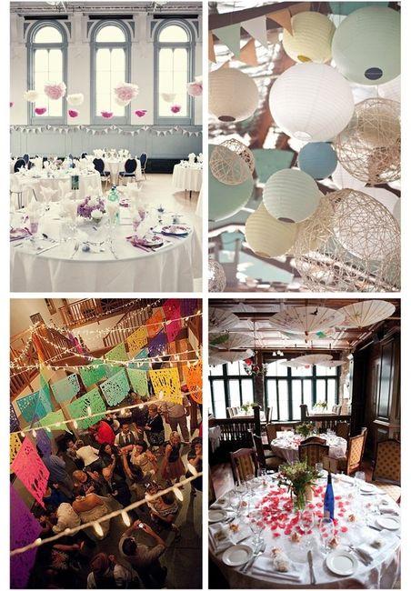 Decora el techo de tu boda foro banquetes for Decoracion lamparas techo