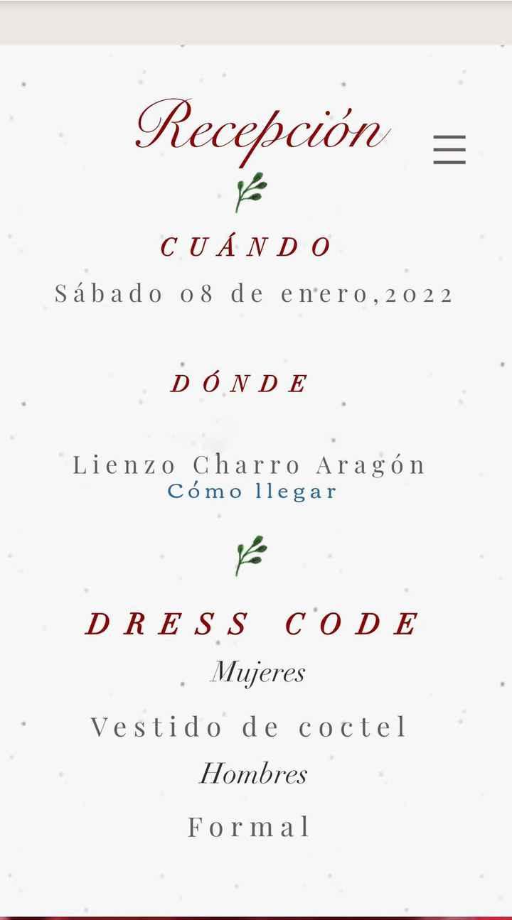 Página web para la boda. - 3