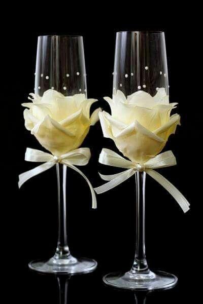 Copas diy con rosas - 1