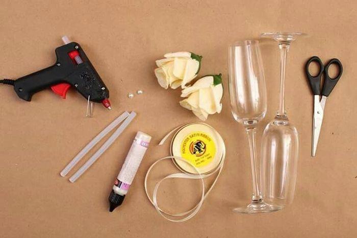 Copas diy con rosas - 2
